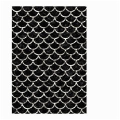 Scales1 Black Marble & Silver Foil (r) Small Garden Flag (two Sides)