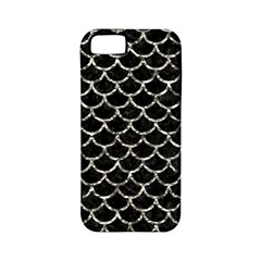 Scales1 Black Marble & Silver Foil (r) Apple Iphone 5 Classic Hardshell Case (pc+silicone)
