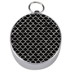 Scales1 Black Marble & Silver Foil (r) Silver Compasses