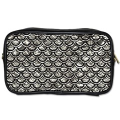 Scales2 Black Marble & Silver Foil Toiletries Bags