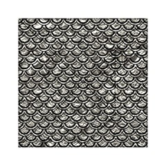 Scales2 Black Marble & Silver Foil Acrylic Tangram Puzzle (6  X 6 )