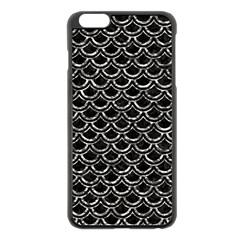 Scales2 Black Marble & Silver Foil (r) Apple Iphone 6 Plus/6s Plus Black Enamel Case