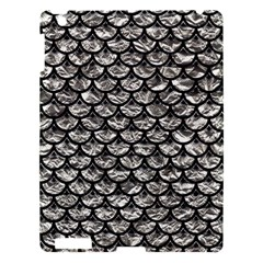 Scales3 Black Marble & Silver Foil Apple Ipad 3/4 Hardshell Case