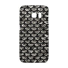 Scales3 Black Marble & Silver Foil Galaxy S6 Edge