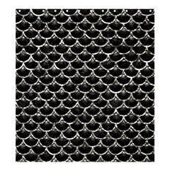 Scales3 Black Marble & Silver Foil (r) Shower Curtain 66  X 72  (large)