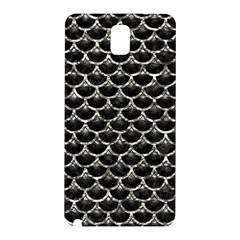 Scales3 Black Marble & Silver Foil (r) Samsung Galaxy Note 3 N9005 Hardshell Back Case