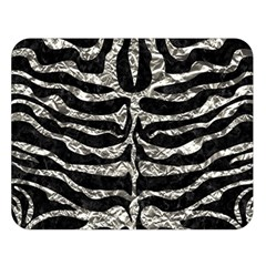 Skin2 Black Marble & Silver Foil (r) Double Sided Flano Blanket (large)