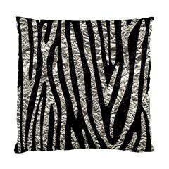 Skin4 Black Marble & Silver Foil Standard Cushion Case (one Side)