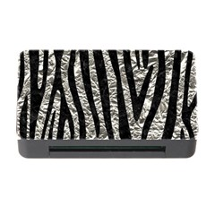 Skin4 Black Marble & Silver Foil (r) Memory Card Reader With Cf
