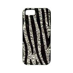 Skin4 Black Marble & Silver Foil (r) Apple Iphone 5 Classic Hardshell Case (pc+silicone)