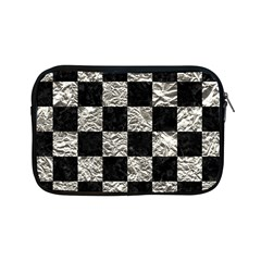 Square1 Black Marble & Silver Foil Apple Ipad Mini Zipper Cases