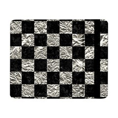 Square1 Black Marble & Silver Foil Samsung Galaxy Tab Pro 8 4  Flip Case