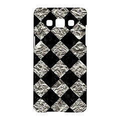 Square2 Black Marble & Silver Foil Samsung Galaxy A5 Hardshell Case