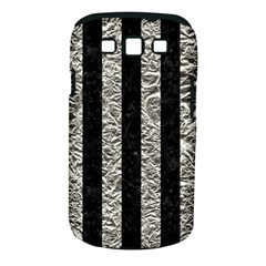 Stripes1 Black Marble & Silver Foil Samsung Galaxy S Iii Classic Hardshell Case (pc+silicone)