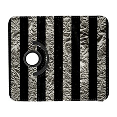 Stripes1 Black Marble & Silver Foil Galaxy S3 (flip/folio)
