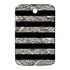 Stripes2 Black Marble & Silver Foil Samsung Galaxy Note 8 0 N5100 Hardshell Case