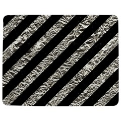 Stripes3 Black Marble & Silver Foil (r) Jigsaw Puzzle Photo Stand (rectangular)