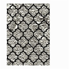 Tile1 Black Marble & Silver Foil Small Garden Flag (two Sides)