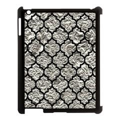 Tile1 Black Marble & Silver Foil Apple Ipad 3/4 Case (black)