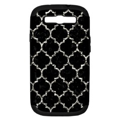 Tile1 Black Marble & Silver Foil (r) Samsung Galaxy S Iii Hardshell Case (pc+silicone)