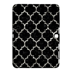Tile1 Black Marble & Silver Foil (r) Samsung Galaxy Tab 4 (10 1 ) Hardshell Case