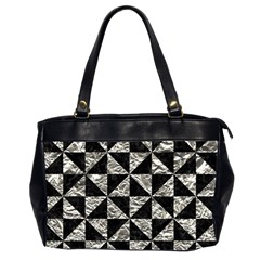 Triangle1 Black Marble & Silver Foil Office Handbags (2 Sides)