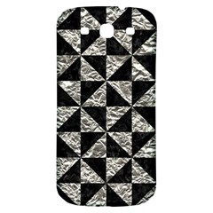 Triangle1 Black Marble & Silver Foil Samsung Galaxy S3 S Iii Classic Hardshell Back Case