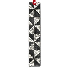 Triangle1 Black Marble & Silver Foil Large Book Marks