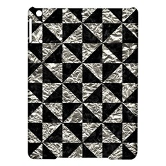 Triangle1 Black Marble & Silver Foil Ipad Air Hardshell Cases
