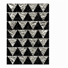 Triangle2 Black Marble & Silver Foil Small Garden Flag (two Sides)