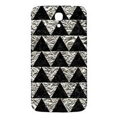 Triangle2 Black Marble & Silver Foil Samsung Galaxy Mega I9200 Hardshell Back Case
