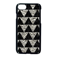 Triangle2 Black Marble & Silver Foil Apple Iphone 8 Seamless Case (black)