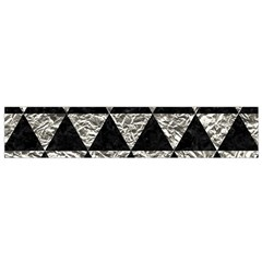 Triangle3 Black Marble & Silver Foil Small Velour Scarf