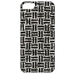 Woven1 Black Marble & Silver Foil Apple Iphone 5 Classic Hardshell Case