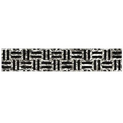 Woven1 Black Marble & Silver Foil Large Velour Scarf