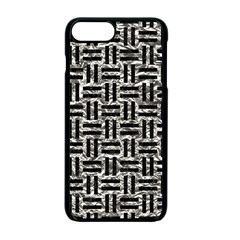 Woven1 Black Marble & Silver Foil Apple Iphone 7 Plus Seamless Case (black)