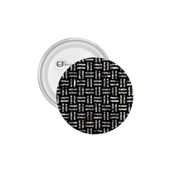 Woven1 Black Marble & Silver Foil (r) 1 75  Buttons