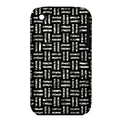 Woven1 Black Marble & Silver Foil (r) Iphone 3s/3gs