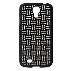 Woven1 Black Marble & Silver Foil (r) Samsung Galaxy S4 I9500/ I9505 Case (black)
