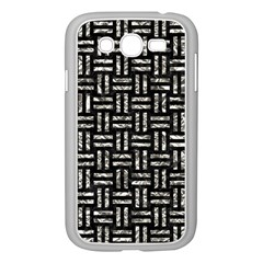 Woven1 Black Marble & Silver Foil (r) Samsung Galaxy Grand Duos I9082 Case (white)