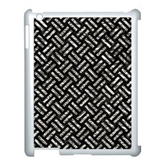 Woven2 Black Marble & Silver Foil (r) Apple Ipad 3/4 Case (white)