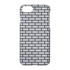 Brick1 Black Marble & Silver Glitter Apple Iphone 8 Hardshell Case