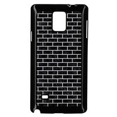Brick1 Black Marble & Silver Glitter (r) Samsung Galaxy Note 4 Case (black)