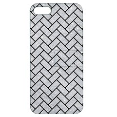 Brick2 Black Marble & Silver Glitter Apple Iphone 5 Hardshell Case With Stand