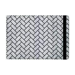 Brick2 Black Marble & Silver Glitter Ipad Mini 2 Flip Cases