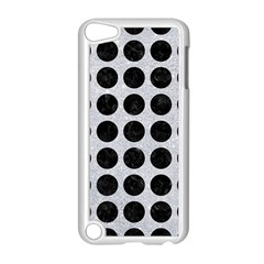 Circles1 Black Marble & Silver Glitter Apple Ipod Touch 5 Case (white)
