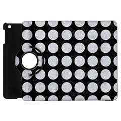 Circles1 Black Marble & Silver Glitter (r) Apple Ipad Mini Flip 360 Case
