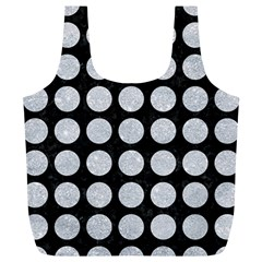 Circles1 Black Marble & Silver Glitter (r) Full Print Recycle Bags (l)