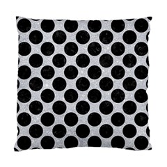 Circles2 Black Marble & Silver Glitter Standard Cushion Case (one Side)