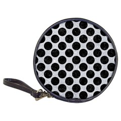 Circles2 Black Marble & Silver Glitter Classic 20 Cd Wallets